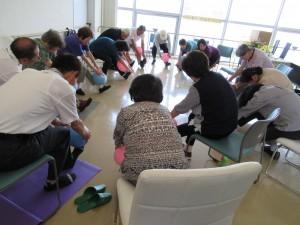 高川介護予防センターのふれあい介護予防教室の参加者の皆さんです。